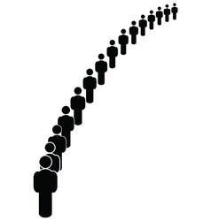people in order vector image