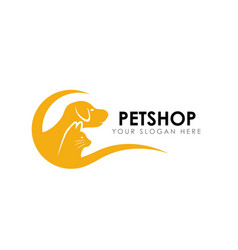 Pet shop logo design template pet home logo vector