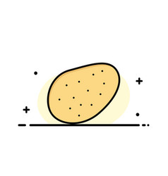 potato food business flat line filled icon banner vector image