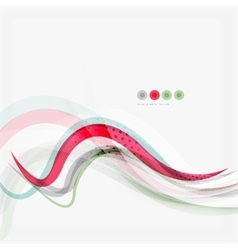Red and blue wave lines vector image