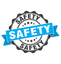 Safety stamp sign seal vector