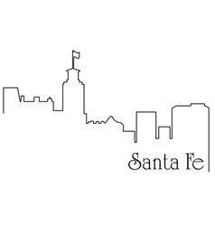 santa fe city one line drawing vector image