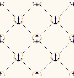 seamless elegance pattern with anchors in vector image