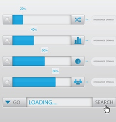 Search Box Loading Infographic Design Template vector