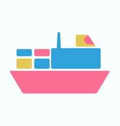 ship icon flat pictogram on background symbol vector image