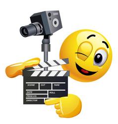smiley emoticon like film director smiley is vector image