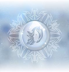 snow globe with zodiac sign Virgo vector image