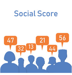social score silhouettes with numbers vector image