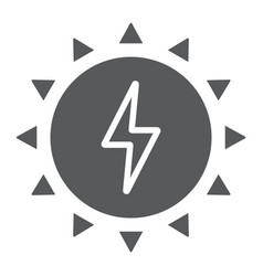 solar energy glyph icon ecology and energy vector image