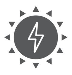 Solar energy glyph icon ecology and energy vector