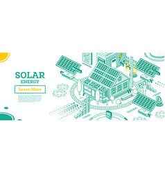 solar energy panels on rohouse vector image