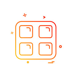 Sqaures icon design vector
