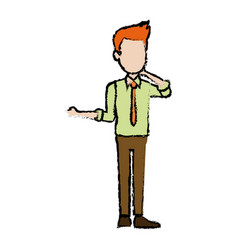 Standing man character male cartoon pose image vector