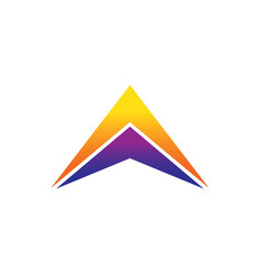 success triangle arrow business logo vector image