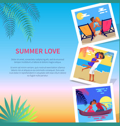 summer love photos near text vector image