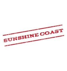 Sunshine Coast Watermark Stamp vector
