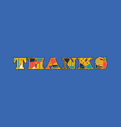 Thanks concept word art vector