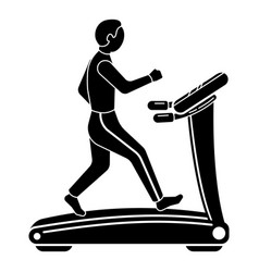 The guy on the treadmill icon simple style vector