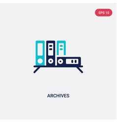 Two color archives icon from education concept vector