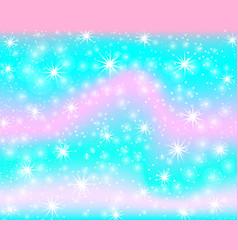 unicorn rainbow background mermaid pattern in vector image