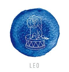 Watercolor lion leo vector