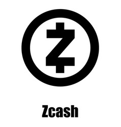 Zcash icon simple style vector