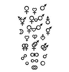 Biological Symbols and Signs of sex gender vector image vector image