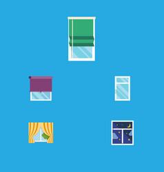 flat icon frame set of glass frame balcony frame vector image vector image