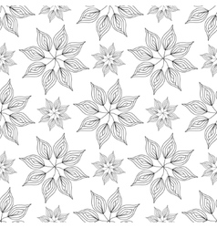 Seamless pattern floral ornament vector image vector image