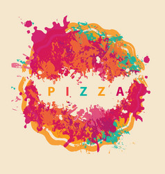 banner with abstract image of pizza vector image vector image