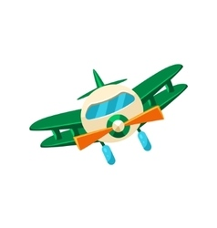 Biplane Toy Aircraft Icon vector image