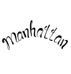 manhattan text vintage retro lettering design vector image vector image