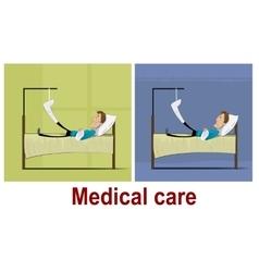 Patients with broken leg vector image vector image