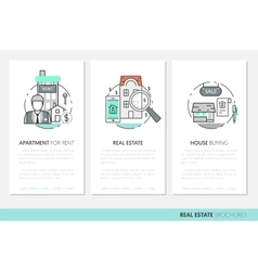 Real Estate Business Brochure Template vector image vector image