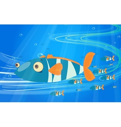 School of fish in the sea vector image vector image