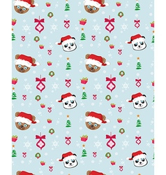 Seamless christmas pattern with teddy bears vector image vector image