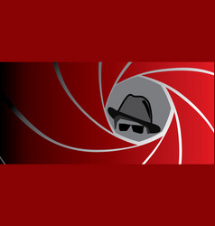 spy agent gangster or detective in fedora hat vector image