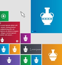 Amphora icon sign buttons Modern interface website vector image vector image