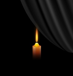dark and candle vector image vector image