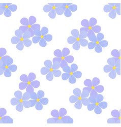 Flax flowers seamless pattern cosmetics medical vector