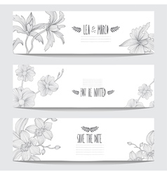 floral cards vector image
