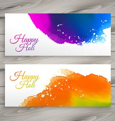 holi banners vector image vector image