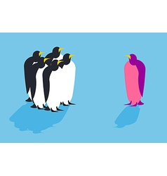 Penguins Animal from another pack Unusual bird vector image vector image