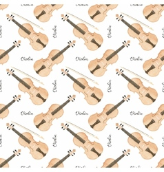 Seamless watercolor pattern with violin on the vector image