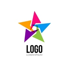 Star logo template layout Abstract vector image vector image