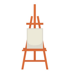 wooden easel with clean paper isolated on white vector image vector image
