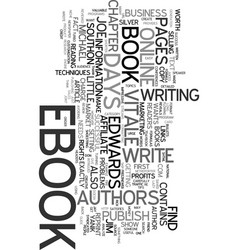 Your own ebook in days text word cloud concept vector