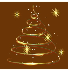 Glowing Christmas light snow and snowflakes vector image vector image