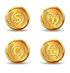 gold currency icon vector image vector image