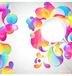 Abstract bright drops background vector image